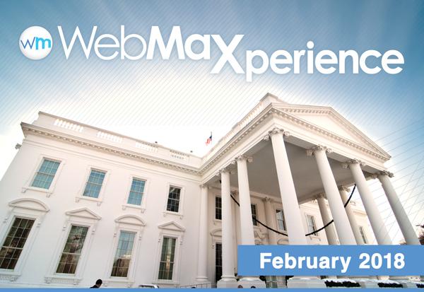 WebMax Logo above USA White House