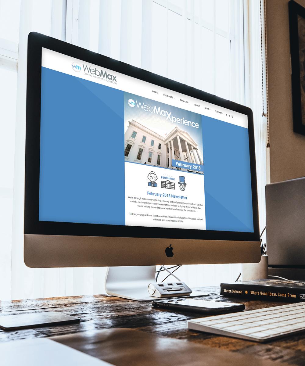 WebMax Newsletter on Apple Imac